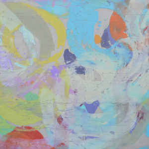Light Captured 3672-4, Paint on mesh, 36 x 72 inches