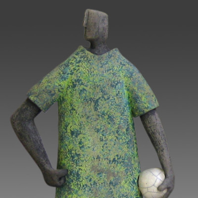 Ball Dude-Large, ceramic, 11 x 4 inches