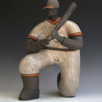 Player, Ceramic, 14 x 10 inches
