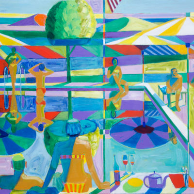 American Bathers, Acrylic on canvas, 43 1/2 x 56 1/2 inches