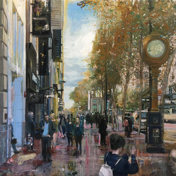 Market Street, Oil on canvas, 60 x 60 inches