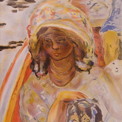 Pierre Bonnard, Double sided Litho, 14 x 10 inches