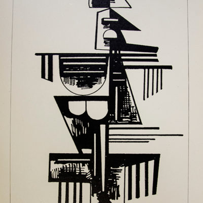Artiste, Lithograph, 11 x 9 inches