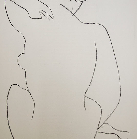 Nude Facing Away, Lithograph, 15 x 11 inches