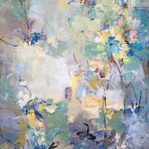 Liberating the Light, Mixed media on canvas, 72 x 36