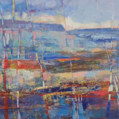Tomales Bay, Mixed media on canvas, 36 x 48 inches