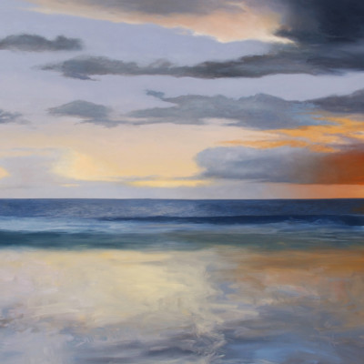 A Passing Brilliance, Oil on canvas, 24 x 48 inches