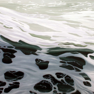 The ripple Effect, Oil on panel, 36 x 72 inches