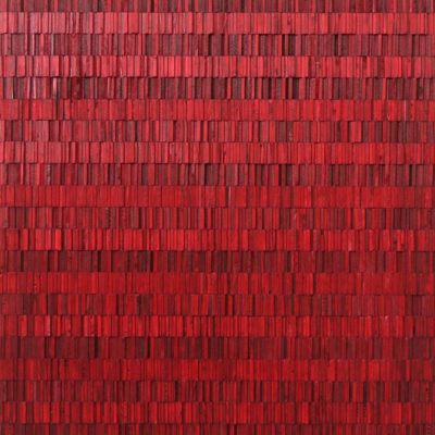 Harissa, Reclaimed wood and dye, 41 x 36 inches