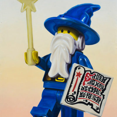 Lego Wizard, Oil on panel, 30 x 24 inches