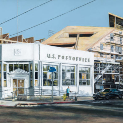 North Park Post Office, Acrylic on panel, 24 x 71 inches