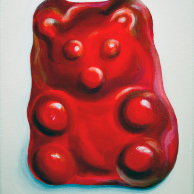 Red Gummy Bear, Acrylic on canvas, 10 x 8 inches